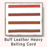 Buff Leather Heavy Belting Cord