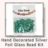 Hand Decorated Silver Foil Glass Bead Kit