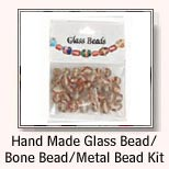 Hand Made Glass Bead / Bone Bead / Metal Bead Kit