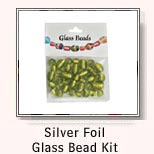 Silver Foil Glass Bead Kit