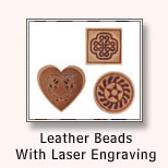Leather Beads/Charms With Laser Engraving