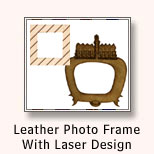Leather Photo Frame With Laser Design