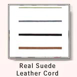 Real Suede Leather Cord