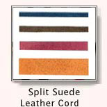 Split Suede Leather Cord